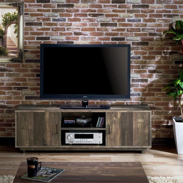 Most Current Sinclair Grey 68 Inch Tv Stands With Regard To Furniture Of America Mailer Rustic Reclaimed Oak (brown) 63 Inch Tv (View 11 of 20)