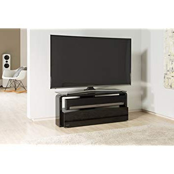 Most Current Sonos Tv Stands Regarding Alphason As9001 Black Sonos Playbar Tv Stand For Up To 45: Amazon (View 11 of 20)