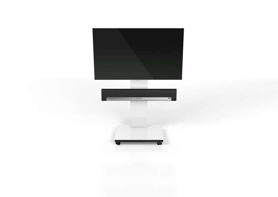 Most Current Spectral Tray Px600sx White Gloss Glass Tv Stand W/ Sonos Playbar Intended For Sonos Tv Stands (View 12 of 20)