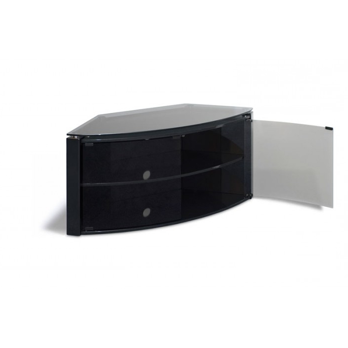 """Most Current Techlink Corner Tv Stands With Regard To Techlink Corner Cabinet – Push Glass Doors Up To 42"""" B6B (View 7 of 20)"""