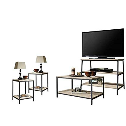Most Current Tv Stand Coffee Table Sets Intended For Amazon: Home Square 4 Piece Living Room Set With Tv Stand (Gallery 7 of 20)