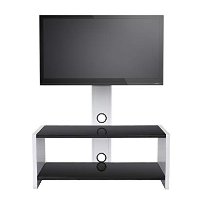 Most Current Tv Stands Swivel Mount For Amazon: Sevenfans Universal Swivel Glass Tv Stand With Mount, Tv (View 3 of 20)