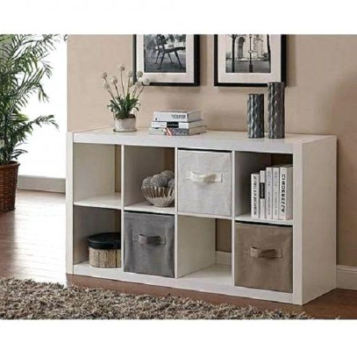 Most Current Tv Stands With Baskets Within Bookcase: Cube Bookcase Organizer Tv Stand Furniture 8 Shelves (View 17 of 20)