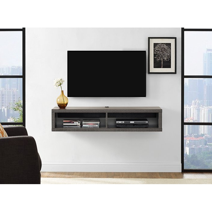 Most Current Wall Mounted Tv Racks With Regard To Martin Home Furnishings Shallow Wall Mounted Tv Stand For Tvs Up To (View 4 of 20)