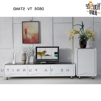 Most Current White Wood Corner Tv Stands Pertaining To Modern Design High Gloss White Wooden Corner Led Tv Wall Unit – Buy (View 6 of 20)
