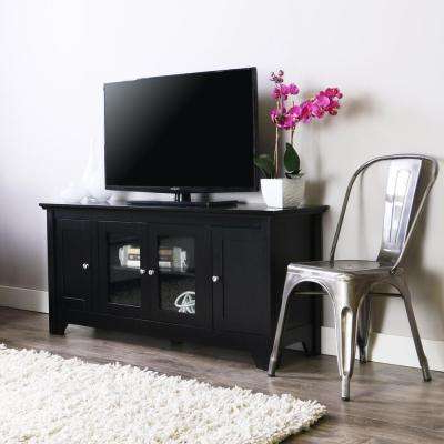 Most Current Wood – Tv Stands – Living Room Furniture – The Home Depot With Dark Wood Tv Cabinets (View 11 of 20)