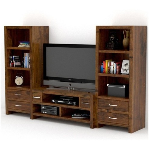 Most Current Wooden Tv Unit, लकड़ी के टीवी की यूनिट, वुडन Intended For Wooden Tv Stands And Cabinets (View 7 of 20)