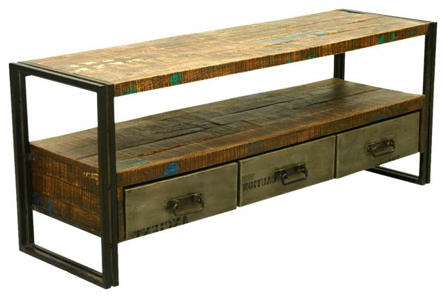Most Current Wrought Iron Tv Stand Sierra Living Concepts Industrial Reclaimed Inside Reclaimed Wood And Metal Tv Stands (View 13 of 20)