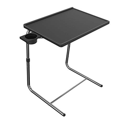 Most Popular Amazon: Adjustable Tv Tray Table – Tv Dinner Tray On Bed & Sofa Inside Folding Tv Trays (View 4 of 20)
