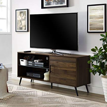 "Most Popular Amazon: We Furniture Az52Norgsdw Adjustable Tv Stand, 52"", Dark Intended For Dark Walnut Tv Stands (View 11 of 20)"