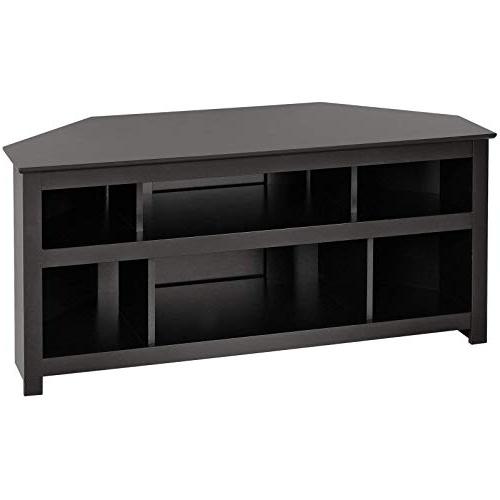 Most Popular Black Corner Tv Cabinets Inside Black Corner Tv Stand: Amazon (View 3 of 20)
