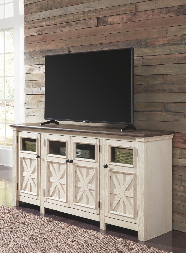 Most Popular Bolanburg – Two Tone – Extra Large Tv Stand (View 11 of 20)