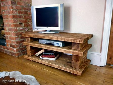 Most Popular Chunky Tv Cabinets Pertaining To Tv Stands For Flat Screens Wooden Pallet (View 2 of 20)