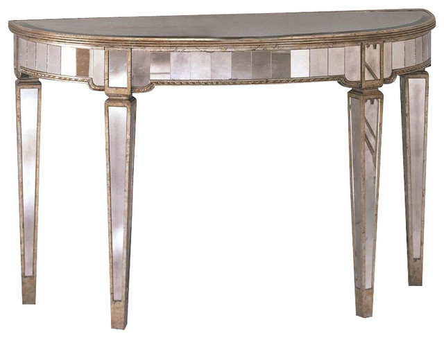 Most Popular Clairemont Demilune Console Tables With Mirrored Demilune Console Table – Table Design Ideas (Gallery 14 of 20)