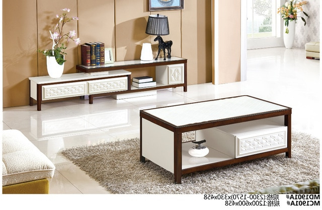Most Popular Coffee Tables And Tv Stands Inside Md1901a Mc1901a Modern Living Room Furniture Set Tea Table & Tv (View 9 of 20)