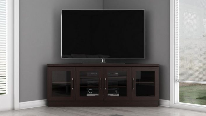 "Most Popular Corner Tv Stands For 60 Inch Tv Inside Furnitech Ft60Cccw Wenge 60"" Contemporary Corner Tv Stand (View 12 of 20)"