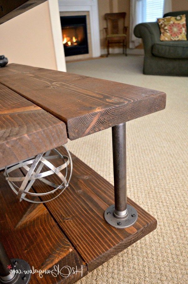 Most Popular Diy Industrial Style Media Stand With Wheels (Gallery 3 of 20)