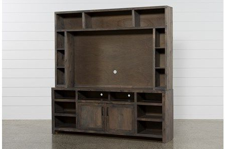 Most Popular Ducar 74 Inch Tv Stands Inside Ducar 2 Piece 84 Inch Wall Entertainment Center (Gallery 5 of 20)