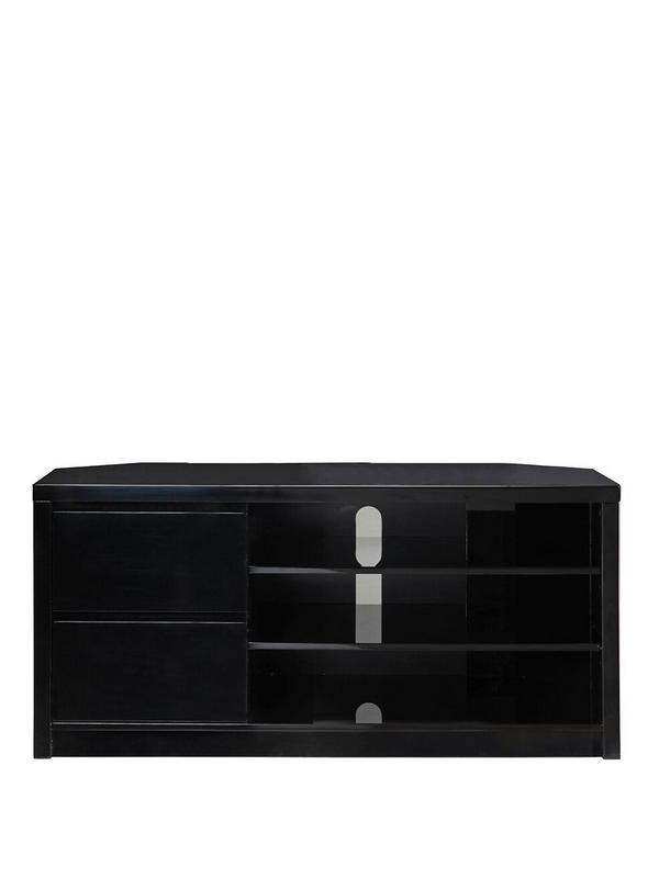 Most Popular Echo Tall High Gloss Corner Tv Unit – Fits Up To 65 Inch Tv (Gallery 1 of 20)