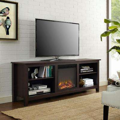 Most Popular Electric Fireplaces – Fireplaces – The Home Depot Throughout Dixon Black 65 Inch Highboy Tv Stands (View 17 of 20)