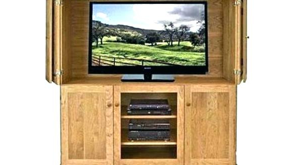 Most Popular Enclosed Tv Cabinets With Doors Throughout Enclosed Tv Cabinet – Home Living Creative New (View 14 of 20)