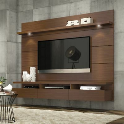 Most Popular Entertainment Center Modern Tv Stand Media Console Wall Mounted Regarding Modern Tv Entertainment Centers (View 15 of 20)