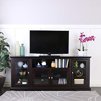 Most Popular Expresso Tv Stands Within Amazon: New 70 Inch Wide Highboy Style Wood Tv Stand Espresso (View 14 of 20)