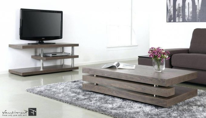 Most Popular Furniture: Pretty Coffee Table Tv Stand Combo Applied To Your House Regarding Coffee Tables And Tv Stands Sets (Gallery 18 of 20)