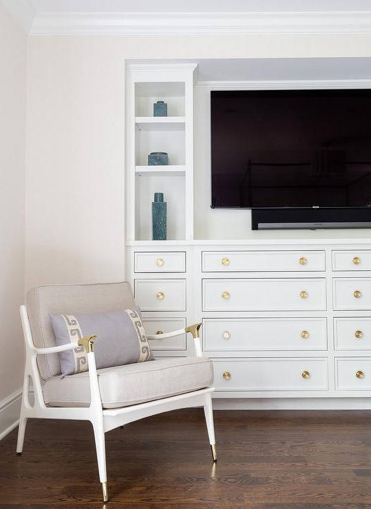 Most Popular Gold Tv Cabinets Regarding Hattie 3 Tiered White Marble Gold Tv Stand (View 15 of 20)