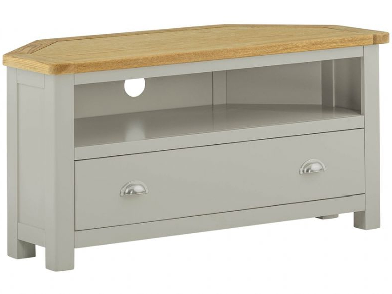 Most Popular Hunningham Painted Corner Tv Unit – Lee Longlands In Painted Corner Tv Cabinets (View 10 of 20)