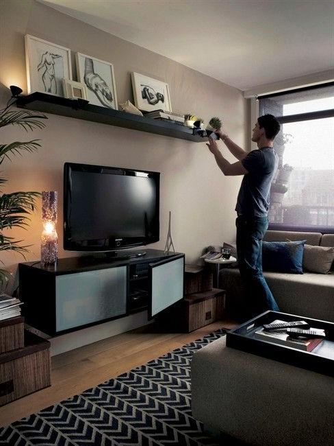 Most Popular Ikea Lack Shelf Above Tv … (Gallery 8 of 20)