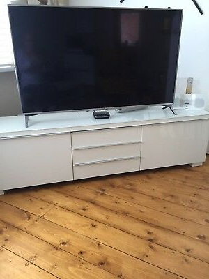 Most Popular Ikea White Gloss Tv Units Inside Ikea Besta White Gloss Tv Unit – £ (View 18 of 20)