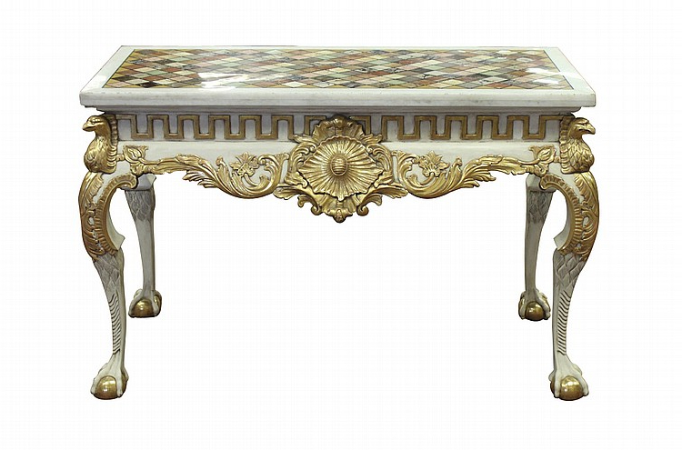 Most Popular Intarsia Console Tables In English Console W Water Gilding And Intarsia Top (View 12 of 20)