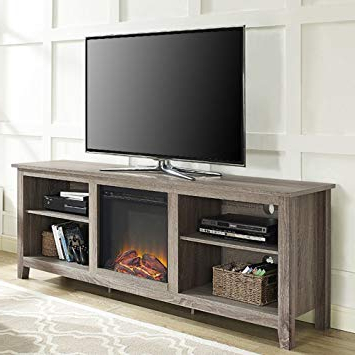 Most Popular Kilian Grey 60 Inch Tv Stands Intended For Amazon: Electric Fireplace Tv Stand For Tvs Up To  (View 14 of 20)