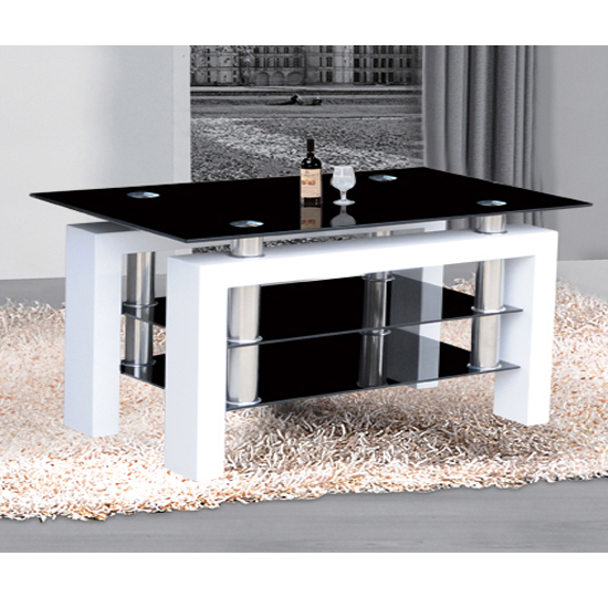 Most Popular Large White Tv Stands Pertaining To Black Glass Tv Stand Elegant Metro Large Tv In High Gloss White (View 13 of 20)