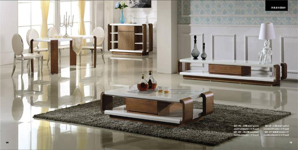 Most Popular Living Room And Dinning Room Set: Coffee Table,tv Cabinet, Sideboard In Coffee Table And Tv Unit Sets (View 14 of 20)