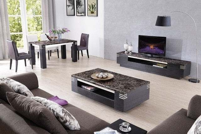 Most Popular Lizz Black Living Room Furniture Tv Stand And Coffee Table Tv Inside Tv Stand Coffee Table Sets (View 2 of 20)