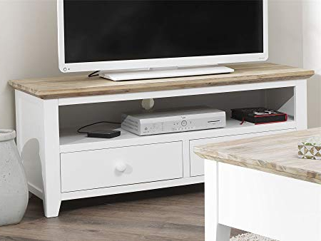 Most Popular Long White Tv Stands Inside Florence Tv Unit With 2 Drawers (View 11 of 20)