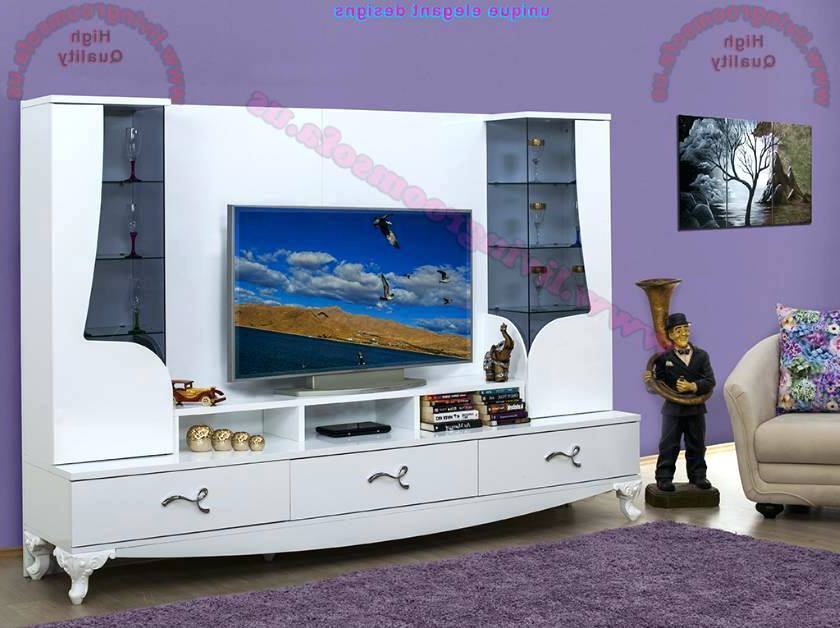 Most Popular Modern Tv Stand 60 Inch Home And Furniture Enchanting Modern Stands Intended For Century White 60 Inch Tv Stands (View 19 of 20)