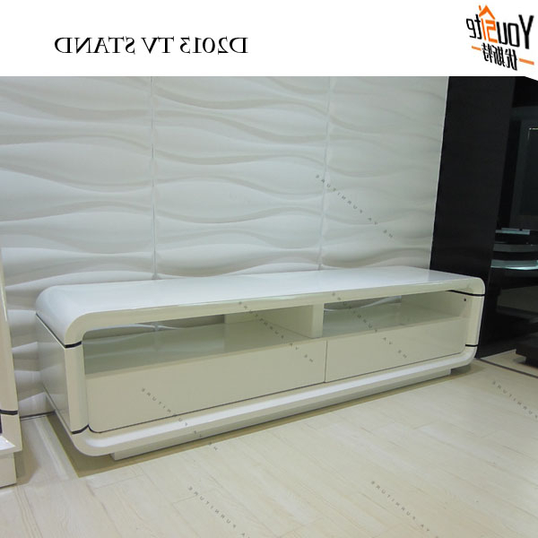 Most Popular Modern Tv Unit Glossy White Tv Cabinets Latest Designs – Buy White Inside White Tv Cabinets (View 10 of 20)