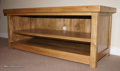 Most Popular Oak Tv Stands In Rustic Oak Barker Tv Stand 2 – Simply Rustic Oak (Gallery 10 of 20)