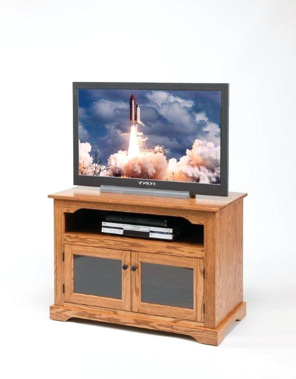 Most Popular Oak Tv Stands With Glass Doors Within Solid Oak Television Stands Stands Fascinating Stand Glass Doors (View 15 of 20)