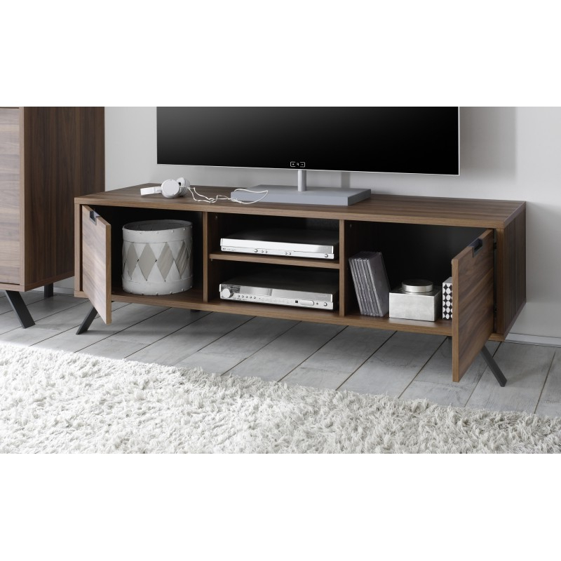 Most Popular Parma Dark Walnut Tv Stand – Tv Stands (1814) – Sena Home Furniture In Walnut Tv Cabinets With Doors (View 7 of 20)