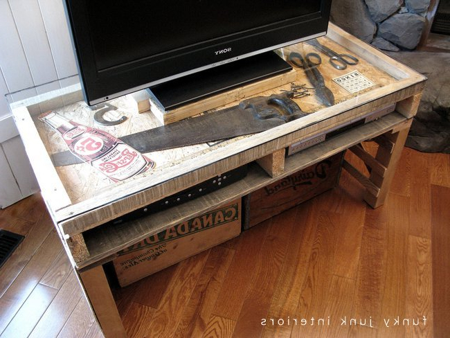 Most Popular Party Junk 202 – Cool Diy Tv Standsfunky Junk Interiors With Funky Tv Stands (View 17 of 20)