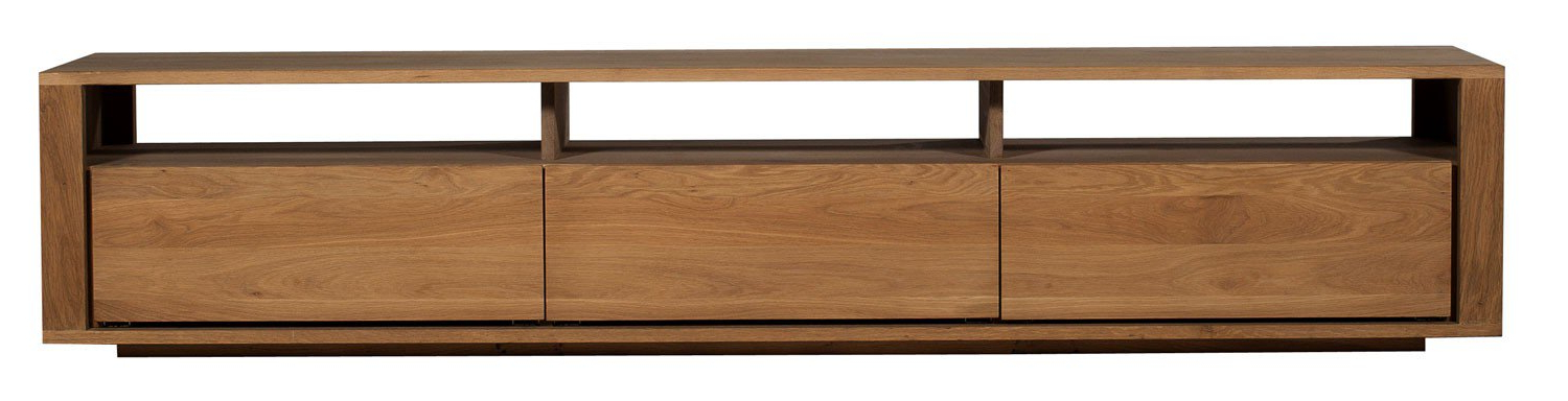 Most Popular Solid Oak Tv Stands Throughout Ethnicraft Shadow Oak Tv Unit (View 4 of 20)