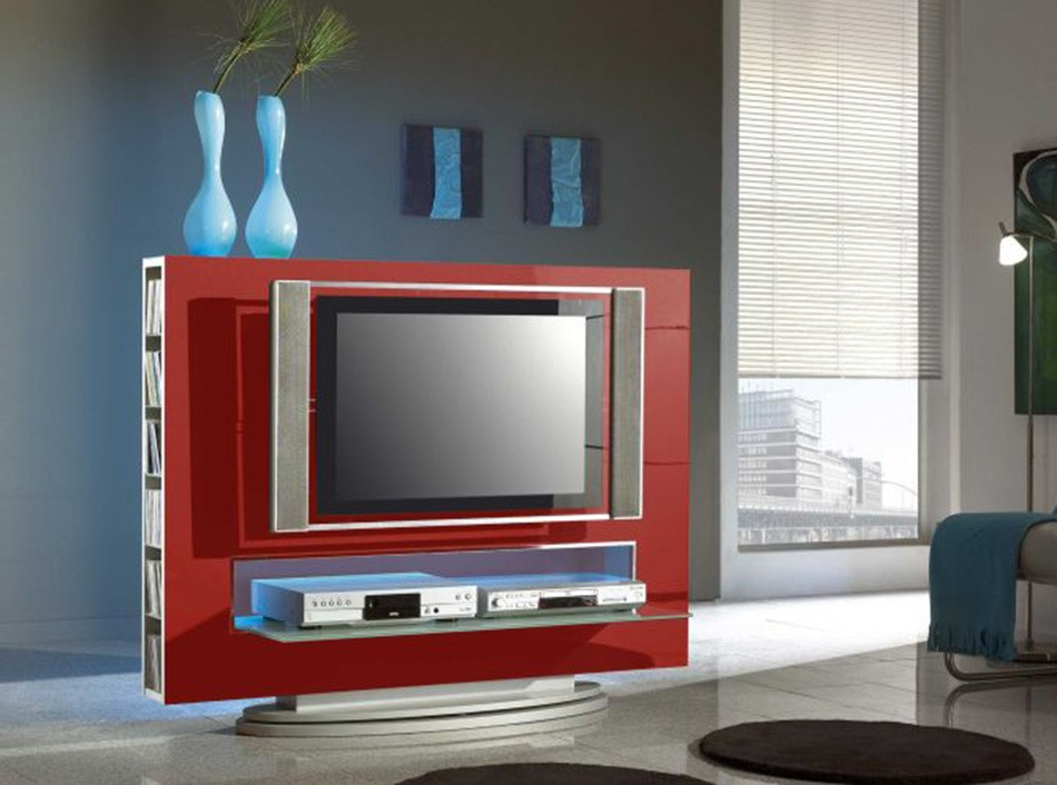 Most Popular Tv Entertainment Center Media 85 Redlc Mobili – Tv Stands Throughout Red Tv Cabinets (View 6 of 20)