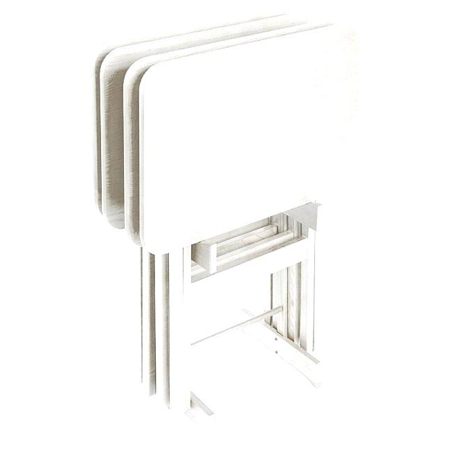 Most Popular Tv Trays Stands – Activeescapes In Tv Tray Set With Stands (Gallery 6 of 20)