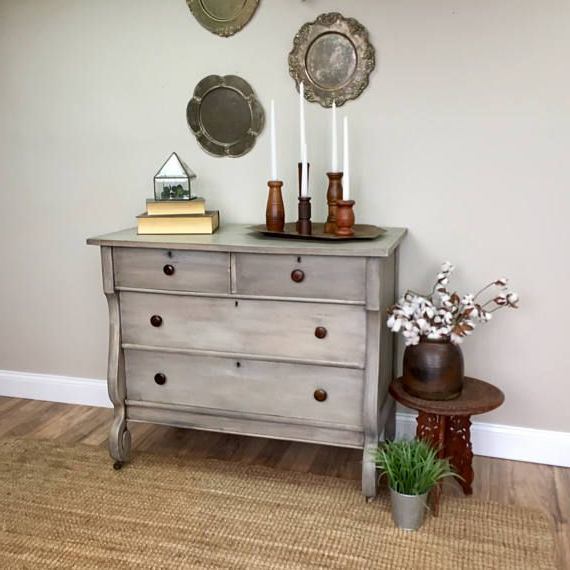Most Popular Vintage Tv Stands For Sale For Antique Chest Of Drawers – Empire Furniture – Gray Dresser – Fixer (View 11 of 20)