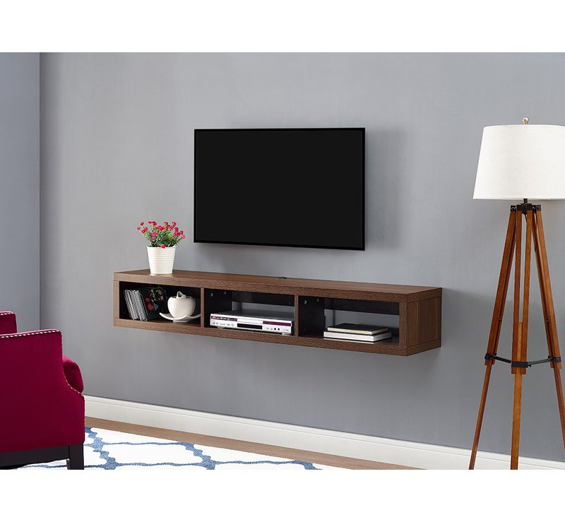 Most Popular Wall Mounted Tv Racks Regarding Martin Home Furnishings Shallow Wall Mounted Tv Stand For Tvs Up To (View 5 of 20)