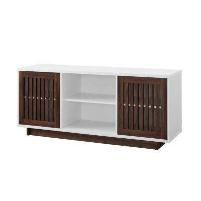 Most Popular Walnut Tv Cabinets With Doors With Regard To Walnut – Tv Stands – Living Room Furniture – The Home Depot (View 10 of 20)